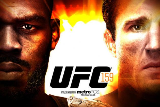 Pic: UFC 159 Poster for 'Jones vs. Sonnen' on April 27 in New Jersey
