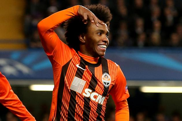 Shakhtar Prepared to Sell Willian to Chelsea or Tottenham for £20m