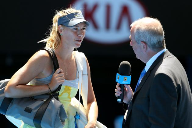 Maria Sharapova Defeats Misaki Doi at 2013 Australian Open
