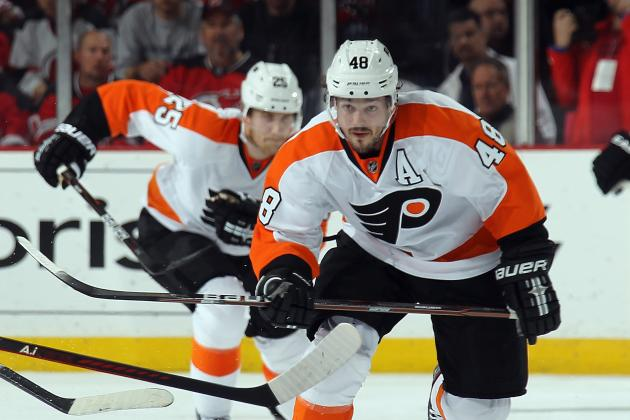 Briere Encouraged by First Skate Since Wrist Injury