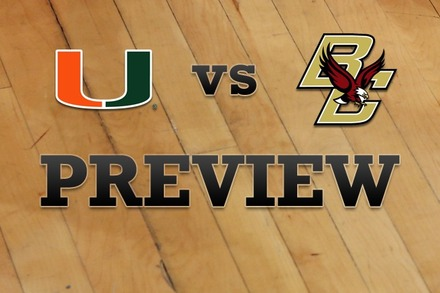 Miami vs. Boston College: Full Game Preview