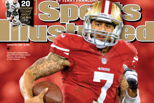 San Francisco 49ers Quarterback Colin Kaepernick on the Cover