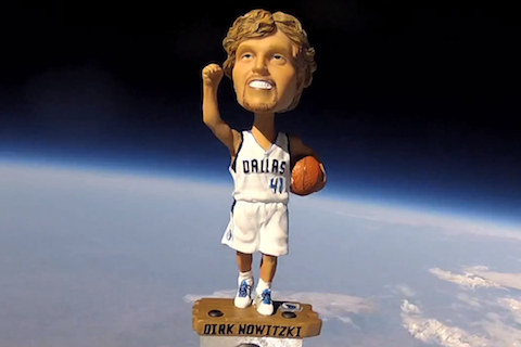 Dallas Won't Trade Dirk Nowitzki, but It Did Send His Bobblehead into Space