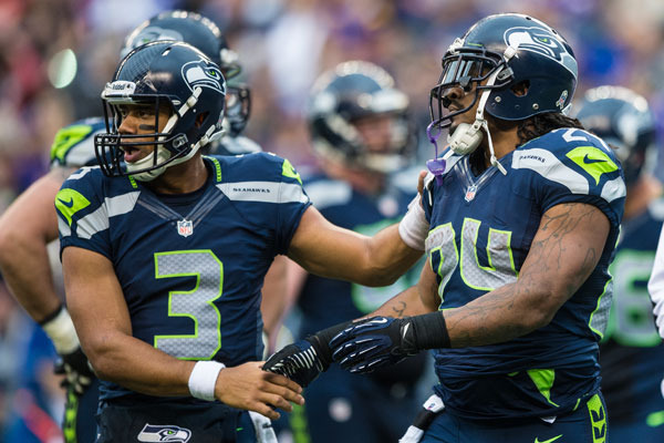 Marshawn Lynch, Russell Wilson Form One Formidable Duo