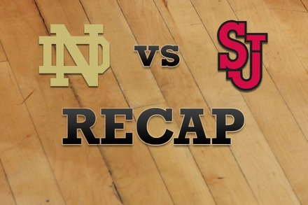 Notre Dame vs. St John's: Recap and Stats