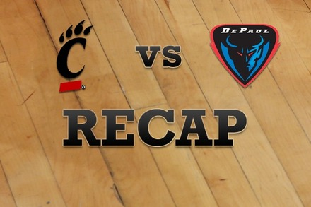 Cincinnati vs. DePaul: Recap and Stats