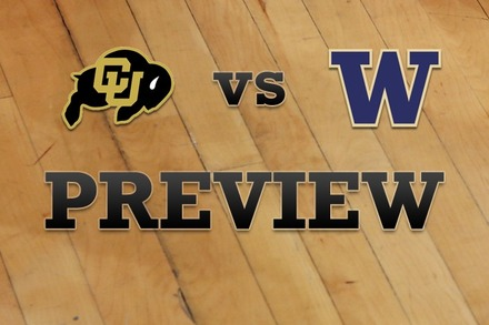 Colorado vs. Washington: Full Game Preview