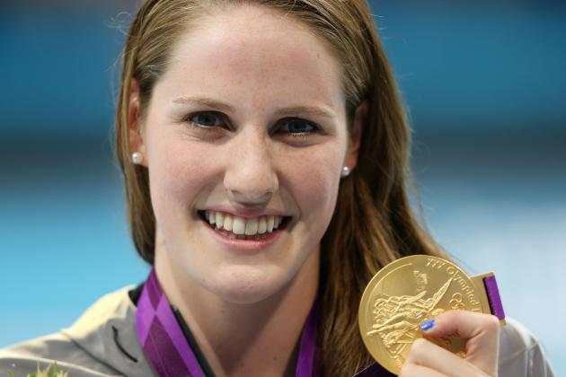 Olympic Star Missy Franklin Makes Waves with Fellow High School Swimmers