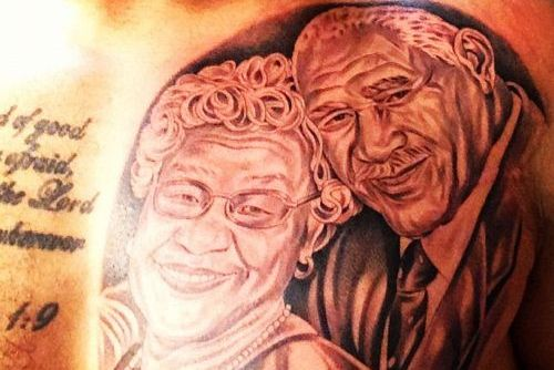 Dodgers' Slugger Matt Kemp Shows off Amazing Tattoo Honoring Grandparents