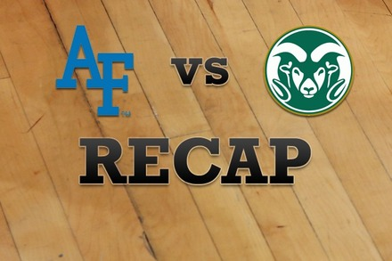 Air Force vs. Colorado State: Recap and Stats