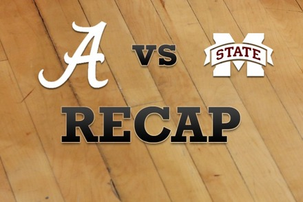 Alabama vs. Mississippi State: Recap and Stats