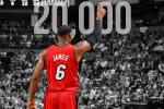 LeBron Reaches 20K Point Milestone