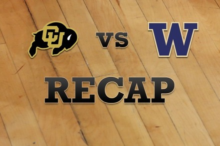 Colorado vs. Washington: Recap and Stats