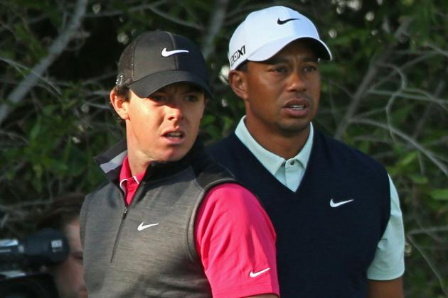 Grading the First Rounds of Tiger Woods and Rory McIlroy in Abu Dhabi