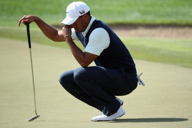 Tiger Woods at Abu Dhabi HSBC Golf Championship 2013: Day 1 Analysis and More