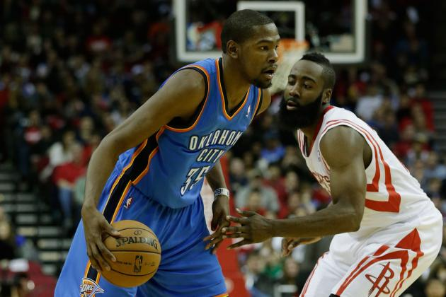 Can James Harden Steal Scoring Crown from Kevin Durant?