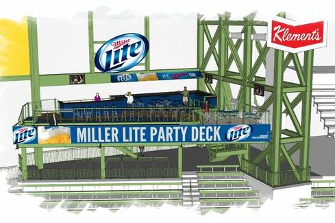Miller Lite Party Deck Debuts at Miller Park for First Game