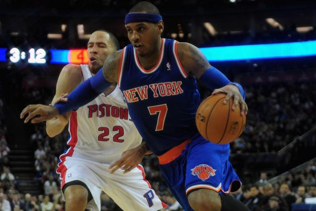 New York 102, Detroit 87: Carmelo Anthony Puts Away Pistons in London