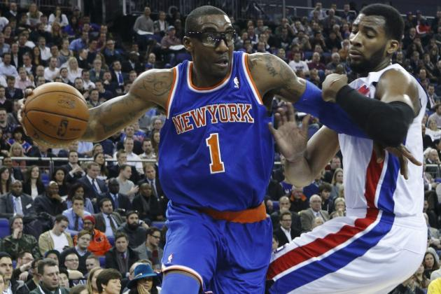 Anthony, Stoudemire Lead Knicks over Pistons in London