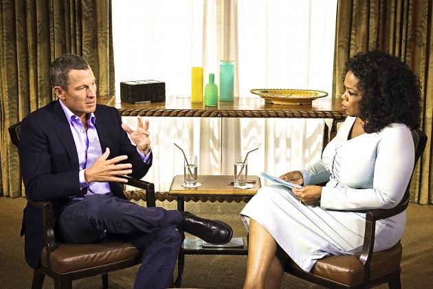 Lance Armstrong Tells Oprah He Isn't a Cheater, Oprah Reacts