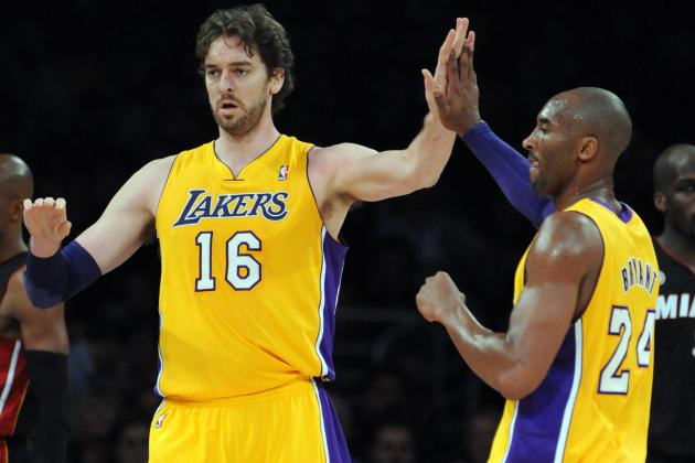 Pau Gasol Returns but Kobe Bryant Hits Only Eight of His 25 Shots