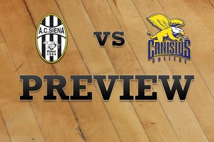 Siena vs. Canisius: Full Game Preview