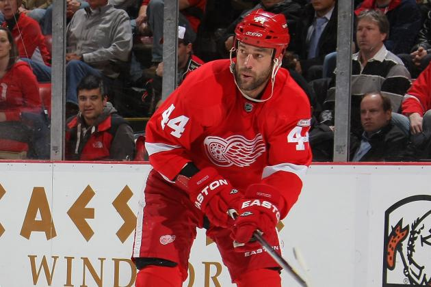Todd Bertuzzi, Darren Helm Out for Red Wings' opener at St. Louis