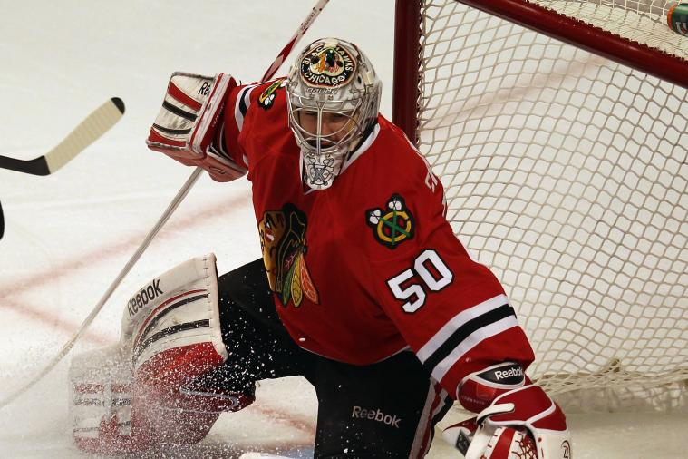 Corey Crawford Taking Pressure Head-On