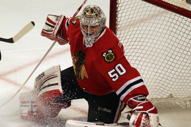 Corey Crawford Will Start in Goal vs. Kings