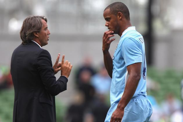Manchester City's Roberto Mancini Warns Vincent Kompany over Tackles