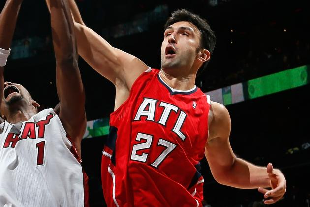 Zaza Pachulia Starts for Al Horford vs. Nets