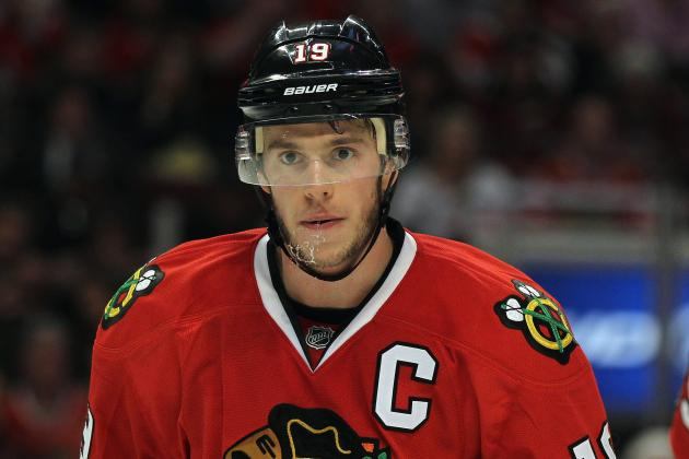 Blackhawks' Toews Misses Practice with Flu