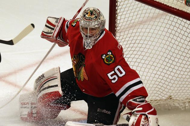 Hawks Tab Crawford to Start in Goal in Opener