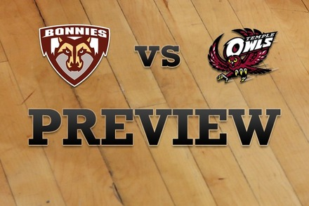 St. Bonaventure vs. Temple: Full Game Preview