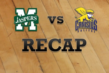 Manhattan vs. Canisius: Recap and Stats