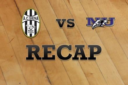Siena vs. Niagara: Recap and Stats