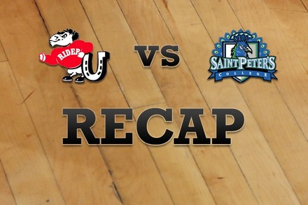 Rider vs. St. Peter's: Recap and Stats