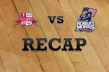 Sacred Heart vs. Robert Morris : Recap and Stats