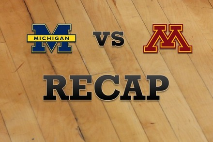 Michigan vs. Minnesota: Recap and Stats