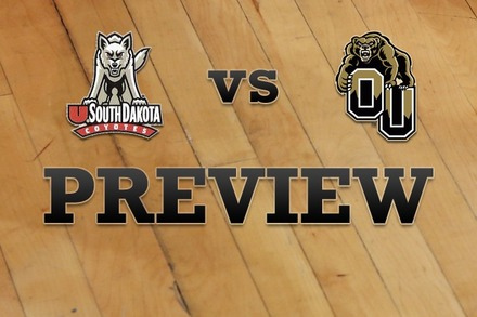 South Dakota vs. Oakland: Full Game Preview