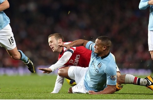 Mancini Warns Kompany over Tackling