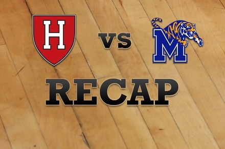 Harvard vs. Memphis: Recap and Stats