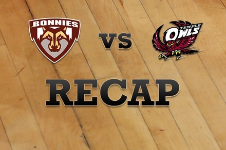 St. Bonaventure vs. Temple: Recap and Stats