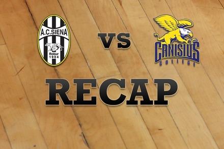 Siena vs. Canisius: Recap and Stats