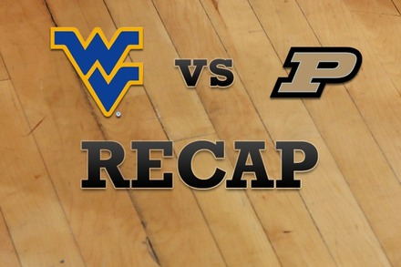 West Virginia vs. Purdue: Recap and Stats