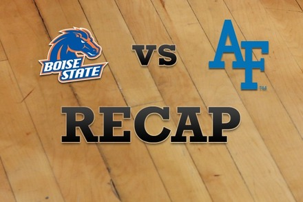 Boise State vs. Air Force: Recap and Stats