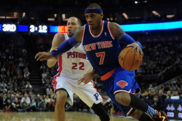 Back on His Regular Diet, Carmelo Anthony Back on Track Post-Fast