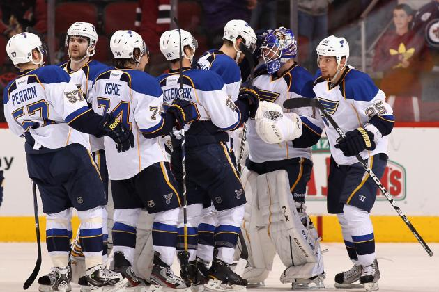 Tarasenko, Stewart Power Blues' 6-0 Rout over DET