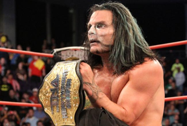 TNA President Dixie Carter Announced During Tonights Bellator MMA Event That The Company Has Re Signed World Heavyweight Champion Jeff Hardy