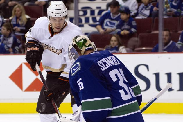 Canucks bombed, Cory Schneider ventilated in 7-3 season-opening loss to Ducks